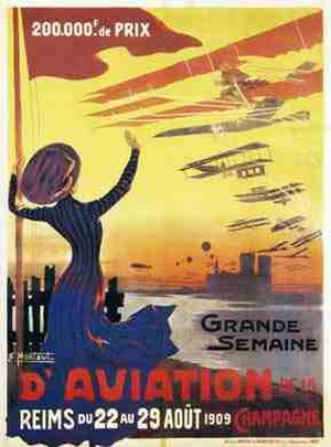 Grande Semaine d'Aviation de la Champagne - Advertising poster for the Grande Semaine d'Aviation