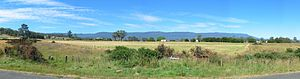 Great Western Tiers - Panorama from Chudleigh towards the Great Western Tiers