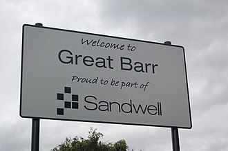 Great Barr - Sign erected by Sandwell Metropolitan Borough Council, in that part of Great Barr which lies in the borough
