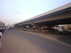 Vellore - NH 46 Green Circle Junction (Central Bus Terminus) flyover in Vellore City