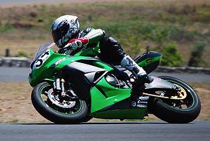 Green Kawasaki ZX-6R at Champion's Ride Day - Lakeside (23).jpg
