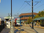 Green Line TRAX at West Valley Central station, Aug 16.jpg