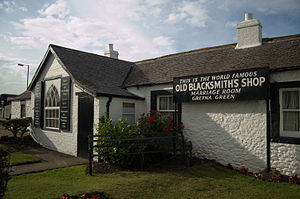 Gretna Green - The old blacksmith's shop at Gretna Green