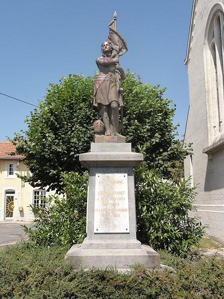 Grimaucourt-en-Woëvre (Meuse) monument aux morts