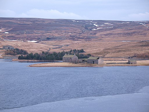 Grimwith Reservoir - east end - geograph.org.uk - 1748459