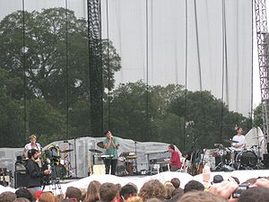 Grizzly Bear (band) - L to R: Chris Taylor, Ed Droste, Daniel Rossen, Christopher Bear at the Austin City Limits Music Festival