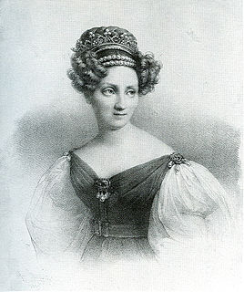 consort of Karl, Grand Duke of Baden, and adoptive daughter of Napoleon I