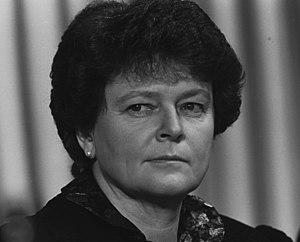 Brundtland's Second Cabinet - Image: Gro Harlem Brundtland World Economic Forum Annual Meeting 1989