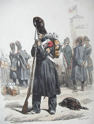 Imperial Guard (Napoleon I) - Grenadier of the Old Guard in 1813