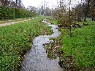 Gründlach River in Germany