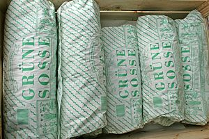 "Green sauce - Packages of herbs for ""Frankfurter Grüne Soße"" sold on regional markets"