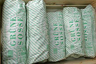 "Green sauce - Packages of herbs for ""Frankfurter Grüne Soße"" sold on regional markets"