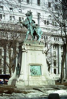 Boer War Memorial (Montreal) Memorial at Dorchester Square in Montreal, Quebec, Canada
