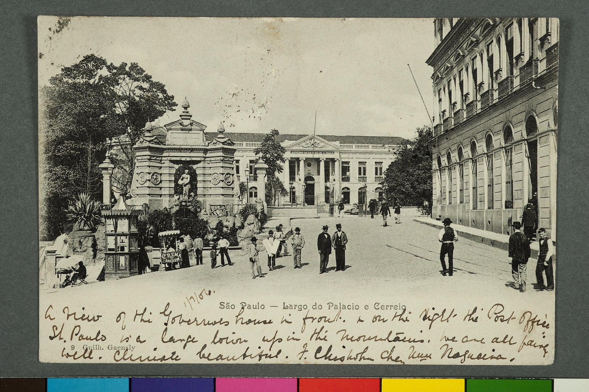 São Paulo - Largo do Palacio e Cerreio