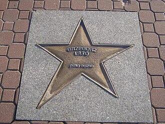 Grzegorz Lato - Lato's star in Władysławowo, pictured in 2006