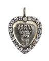 Hängsmycke i form av ett hjärta av förgylld silver med bergkristall, 1772 - Hallwylska museet - 110376.tif
