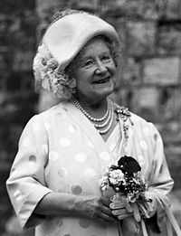 Queen Elizabeth The Queen Mother H.M. The Queen Mother Allan Warren crop.jpg