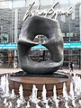 HK 中環 Central 交易廣場 Exchange Square sculpture 亨利摩爾 Henry Moore work Oval with Points January 2020 SS2 08.jpg
