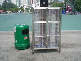 Locker - Lockers made of metal (Victoria Harbour, Hong Kong)