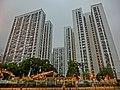 HK SPK 新蒲崗 night San Po Kong 彩虹道 Choi Hung Road evening Mar-2014 view 東頭邨 Tung Tau Estate Tai Tung House facades.JPG