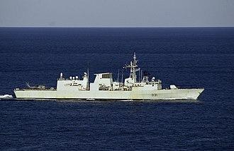 HMCS Vancouver (FFH 331) - Image: HMCS Vancouver (FFH 331) off Australia 2001
