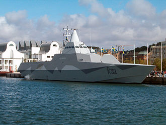 Radar cross-section - A Visby class corvette incorporating stealth technology