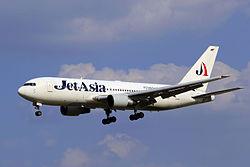 HS-JAD - Jet Asia Airways - Boeing 767-246 - TAO (11947787475).jpg