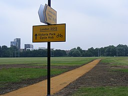 Hackney Marshes - temporary Olympic games footpath. (7657793166)