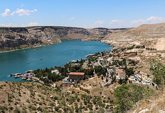 Halfeti - Halfeti and the river Euphrates