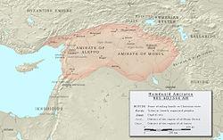 Hamdanidas em 955 durante o Estado de Sayf ad-Daula.