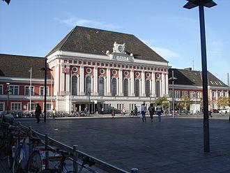 Hamm–Warburg railway - Hamm station