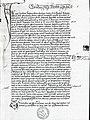 Handschriftliche Abschrift der ersten Seite des Dekadikon von Johannes Klenkok (ca. 1310 - 1374) aus dem 15. Jhdt.jpg