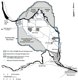 Hanford Reach National Monument - Map of Hanford Reach National Monument