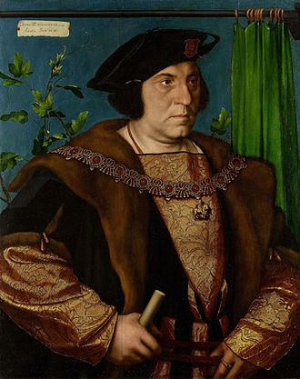 Henry Guildford - Portrait of Sir Henry Guildford from 1527, by Hans Holbein the Younger. He wears the Collar of the Garter