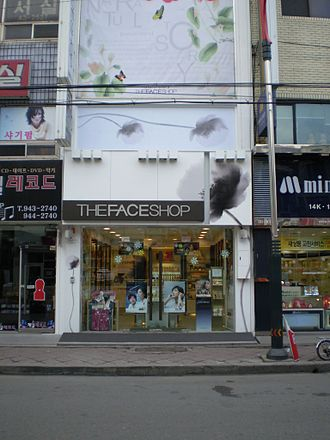 The Face Shop - The Face Shop shop front in Myeong-dong, Seoul in 2012.