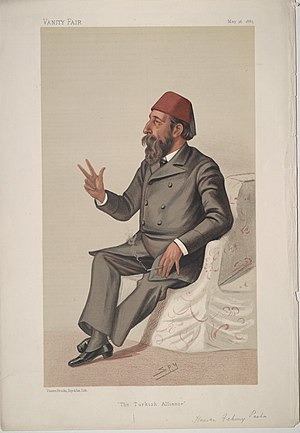 Hasan Fehmi Pasha - Hasan Fehmi Pasha on the cover of Vanity Fair, 16 May 1885.