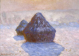 Haystacks, Snow Effect 1891 Claude Monet NGScotland.jpg