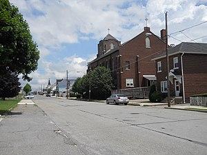Summit Hill, Pennsylvania - Image: Hazard St, Summit Hill PA 01