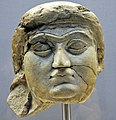 Head of a female worshiper from the Temple of Ishtar at Nineveh, Iraq. 700-625 BCE, British Museum.jpg