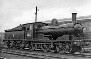 Heaton TMD - NER Class J21 No.65110 in ex-works condition at Heaton Shed, 1954
