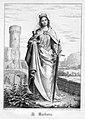 Heilige Barbara, Stahlstich als Andachtsbild nach Settegast, D2347-18.jpg
