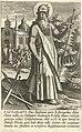 Heilige Willem van Aquitanië Stichters van kloosters en religieuze orden (serietitel) Ordinvm Religiosorvum conditores (serietitel), RP-P-1887-A-11792.jpg