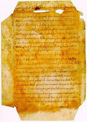 Old Saxon - Heliand excerpt from the German Historical Museum