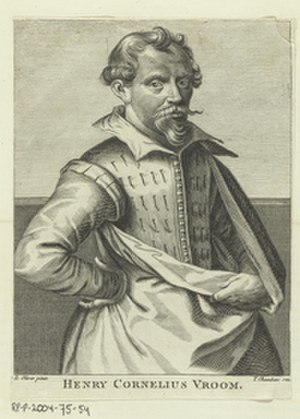Hendrick Cornelisz Vroom - Engraving of the artist, ca. 1762