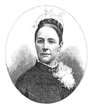 Hildegard Werner - Hildegard Werner. Xylography  1893.