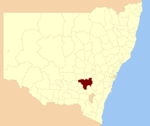 Hilltops Council - Location of Hilltops Council in NSW