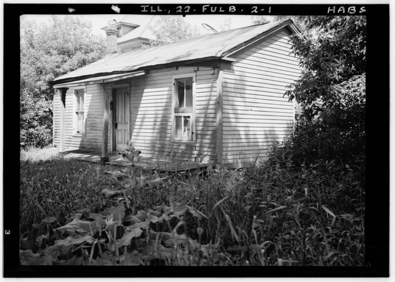 Historic American Buildings Survey Earl H. Reed, Photographer June 1937 FRONT VIEW - EARLY DWELLING (Opposite Old Tavern) - Ogden Avenue (House), Fullersburg, Du Page County, IL HABS ILL,22-FULB,2-1