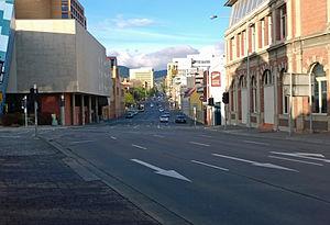 Hobart Area Transportation Study - Image: Hobart Macquarie Street 02(closeup)