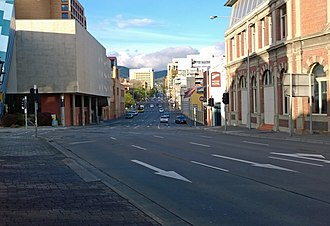 Hobart Area Transportation Study - Image: Hobart Macquarie Street 02(closeup)