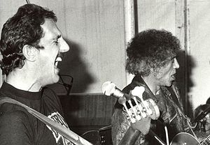 Colin Hodgkinson - Hodgkinisohn playing with Alexis Korner, (right) in 1980